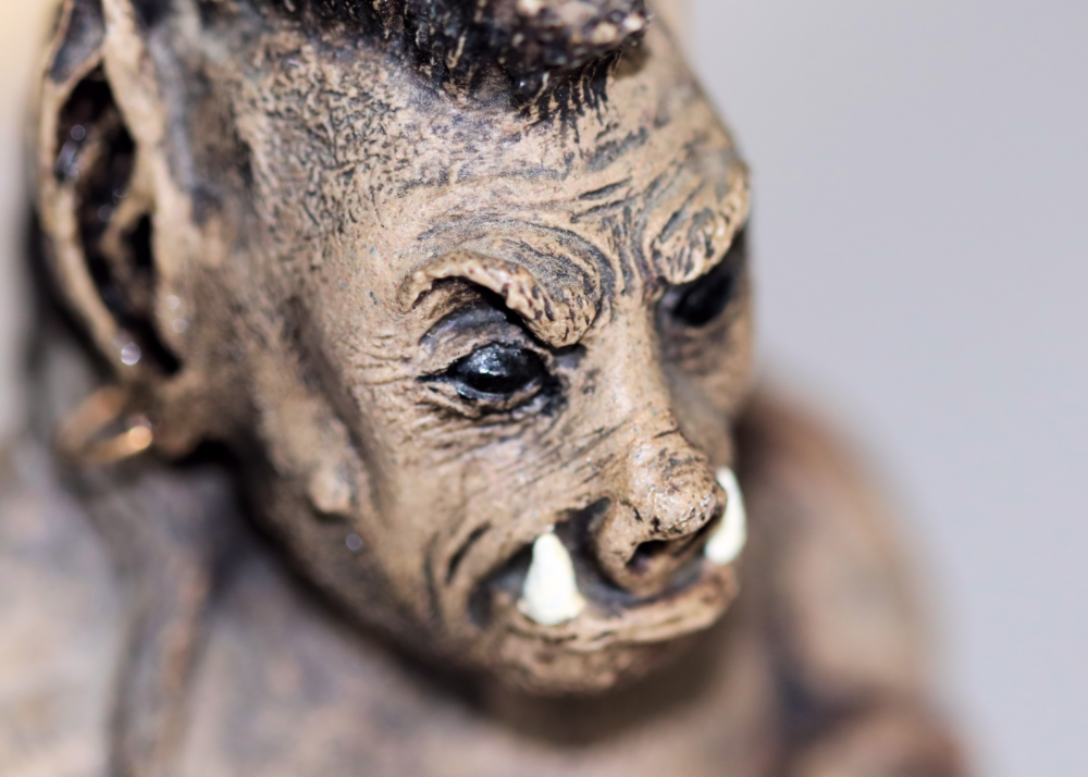 clay figurine orc